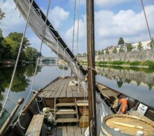 Traditional boat trip on the Loire river in Orleans