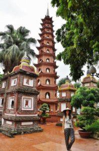Tran Quoc pagoda in Hanoi in Vietnam