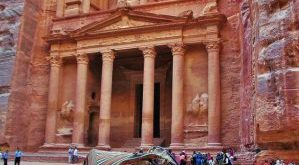 Jordan – This is the majestic Petra Treasury, a World Heritage Site