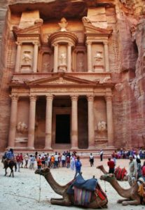 Treasury of Petra in Jordan