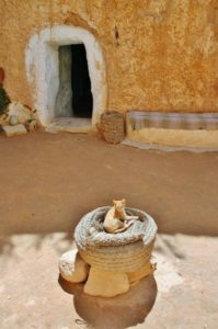 Troglodyte house in Matmata in Tunisia
