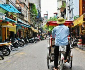 Tuk tuk in Hanoi in Vietnam