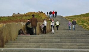 Viewpoint area of the Cliffs of Moher in Ireland