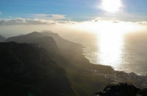Views from a lookout on Table Mountain in Cape Town