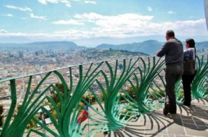 Views from the monument of the Virgin of Quito in El Panecillo