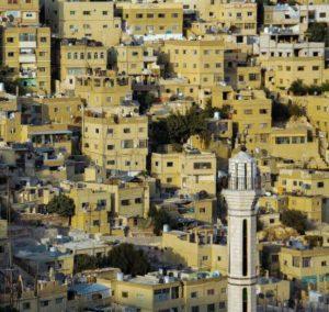Views of Amman from the citadel in Jordan
