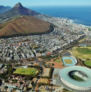 Views of Cape Town on the helicopter tour