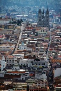 Views of the historic center of Quito from Panecillo