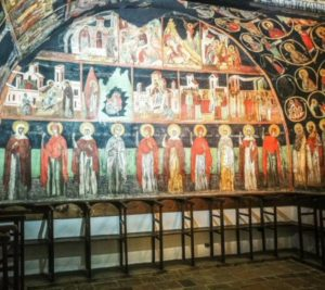Wall paintings in the church of Arbanasi in Bulgaria