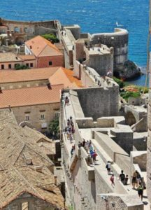 Walls of Dubrovnik in Croatia