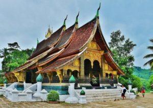 Wat Xieng Thong temple in Luang Prabang in Laos