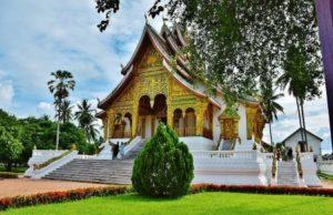 Wat Xieng Thong temple in Luang Pragang in Laos