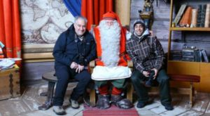 With Santa Claus in Santa Claus Village in Rovaniemi