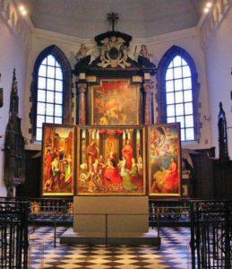 Works of art at the Hospital de San Juan in Bruges