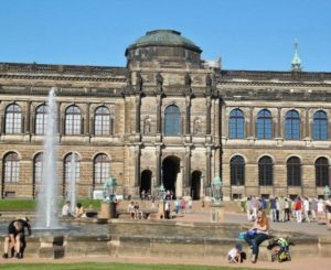 Zwinger in the historic center of Dresden