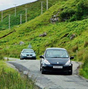 Highway on the Isle of Skye in Scotland