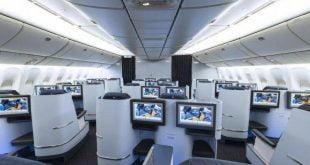 Interior of KLM aircraft