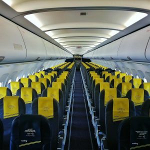 Interior of a Vueling airplane