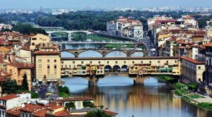 Ponte Vecchio from Florence in Italy