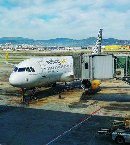 Vueling plane in Barcelona airport